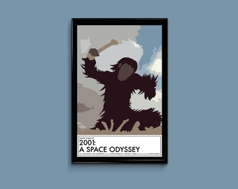 2001 A Space Odyssey 11 x 17 Minimalist Movie Poster