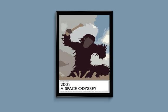 2001 A Space Odyssey 11 x 17 Minimalist Movie Poster