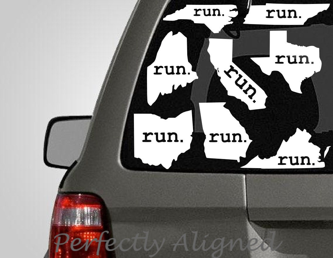 Choose Your Own Home State With Run Vinyl Decal Florida