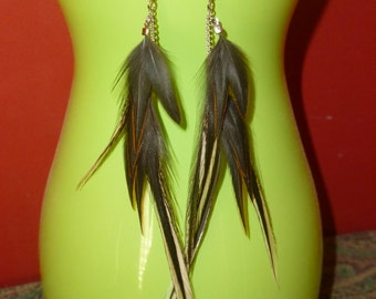 All Natural Feather Earrings.