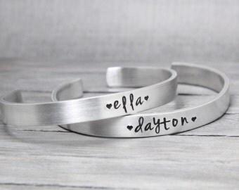 Bracelet for Kids, Childs Bracelet, Adjustable bracelet for girls, Name Bracelet, Handstamped Jewelry, Personalized Jewelry,