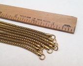"Vintage Brass Chain Mesh Snake Style Necklace - 18"" Long - 4pc"