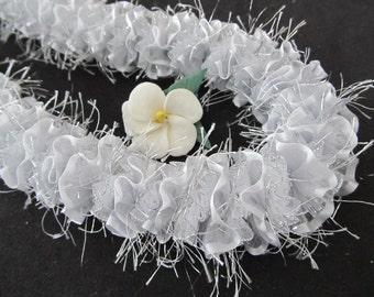 Silver Lehua Hawaiian Ribbon Lei