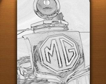MG Car Art Photography, Automobile Art, British Car Pictures, English Car Art, Automotive Art, Car Photography, Guy Thing, Vertical Art