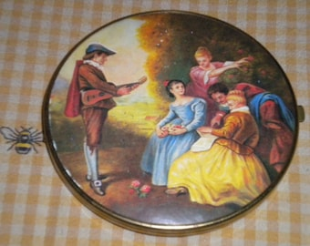 Beautiful French/Victorian West Germany Compact Double Mirror, French Boudoir, French Country, Victorian