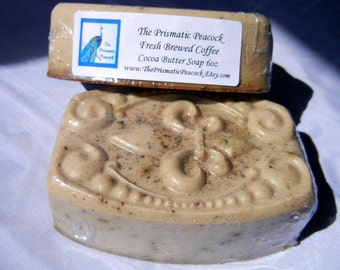 Coffee Scented Cocoa Butter Soap with Ground Coffee Beans