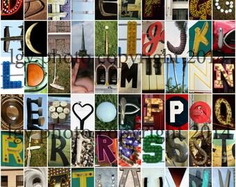 Photo Letter Art Magnets - Set #2