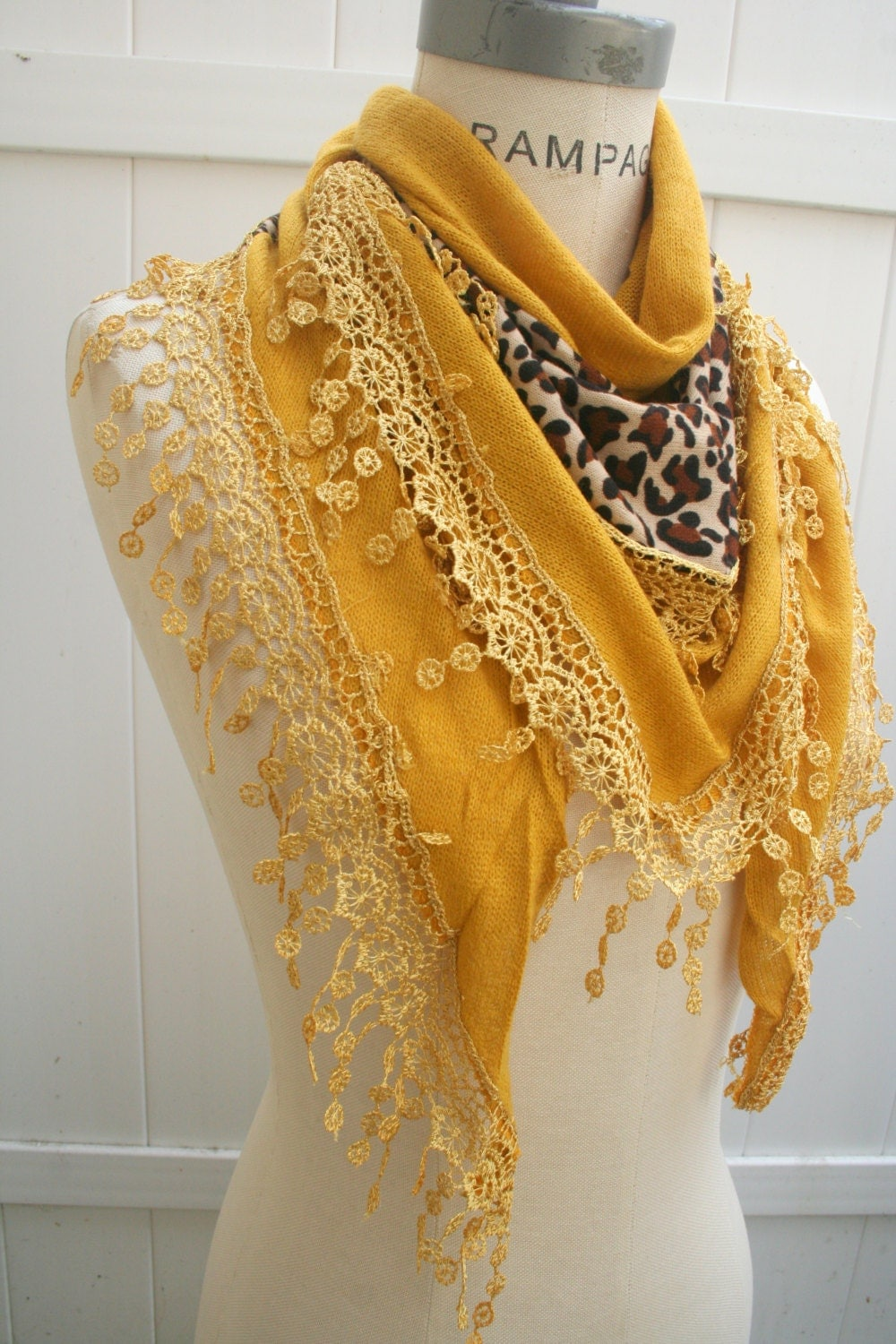mustard yellow leopard lace scarf mustard yellow scarves