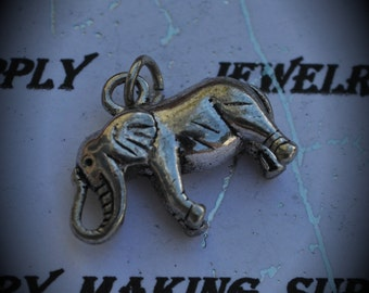Elephant Sterling Silver Plated Charm