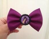 Maleficent hair bow