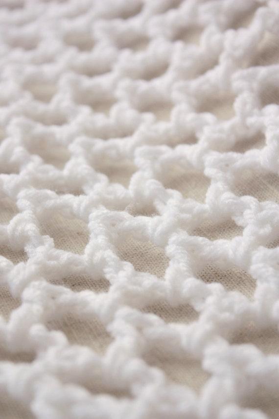 "Large White ""Lovey Corral"" - Crochet Toy Hammock - Stuffed Animal Organizer"