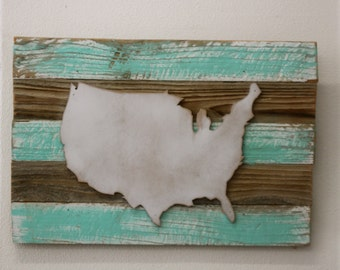 BIG Custom VIntage Plank with Bear, California, Your State, Me & You, State, United States, Country…. Home, office, wedding, gift, decor