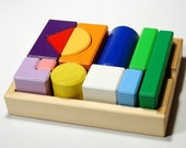 Wooden blocks - developing constuctor for children (age 2-6)
