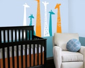 Children Wall Decal - Giraffe Wall Decal - BRAND NEW! - Giraffe Nursery Decor - Giraffe Crib Bedding