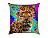 Fractals Leopard - Original Graphic Sofa Throw Pillow