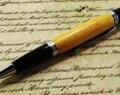 Pau Amarillo Wood Pen - Classica Style with Chrome Finish