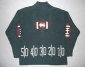 Football Touchdown Sweater Green Bay Packers Tacky Gaudy Ugly Christmas Party X-Mas NFL Holiday Greenbay L Large