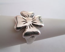 Sterling Silver 4 LEAF CLOVER RING Sizes 5-9 Rasnick Jewelry American Made