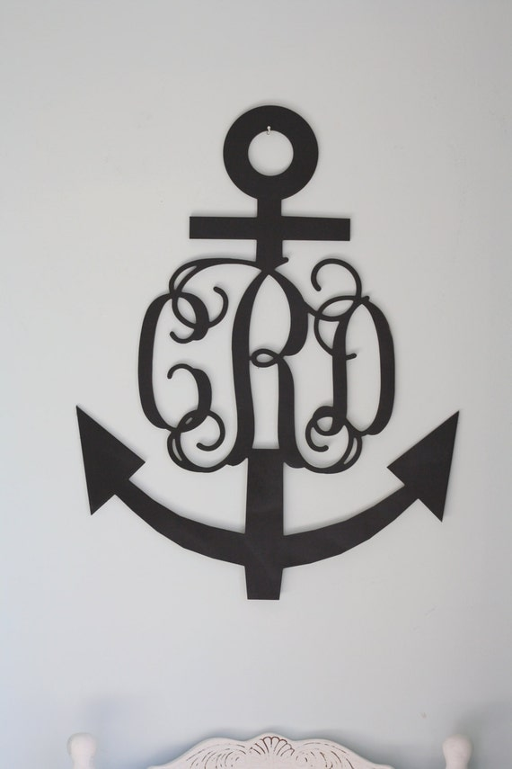 "Extra Large (24"") Anchor Wooden Monogram-Ready to Paint-Monogram your Home"