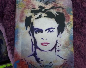 SPRAY PAINTED Frida Kahlo Composition Notebook Art