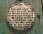 John 14:6 Handcrafted Scripture Pendant