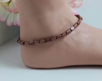 Wooden Stretch Ankle Bracelet
