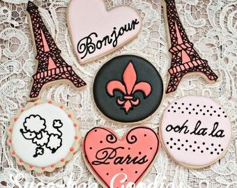 Paris Themed Sugar Cookies (12)