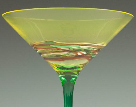 1960s Signed Cenedese Murano Martini Glass Mid Century