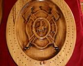 Firefighter Badge Cribbage Board