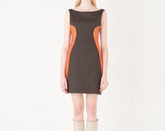 On sale-70% Brown panel dress XS,S,M