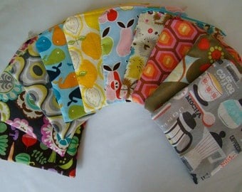 """Made to Order: Set of 2 Sandwich Bags, 7""""X7"""" with zipper, you choose the print."""