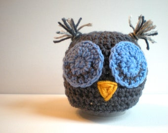 PATTERN:  Beginner Crochet PDF Pattern, Hoot Hat, size newborn to adult, baby kids animal hat, InStaNT DowNLoaD, Permission To Sell
