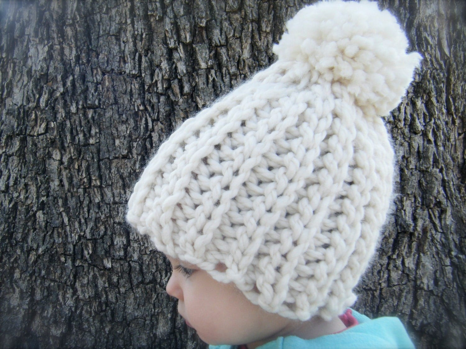 Diy Crochet Pattern Snow Cap Hat 4 Sizes Baby Through Adult