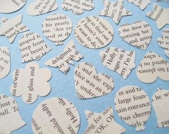 500 x 1 Inch Novel Book Wedding Confetti - 16 book choices including Alice in Wonderland / The Great Gatsby / Harry Potter