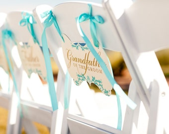 Beautiful Reserved Chair Signs for Wedding CEREMONY or any special events