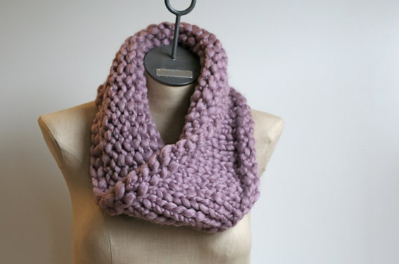 The Cobblestone Cowl ~ Hand Knit Wool Blend Neck Warmer Infinity Scarf ...