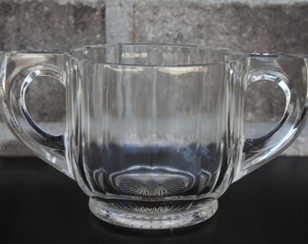 Double Handled Vintage Drinking Glass, Baby's First Cup