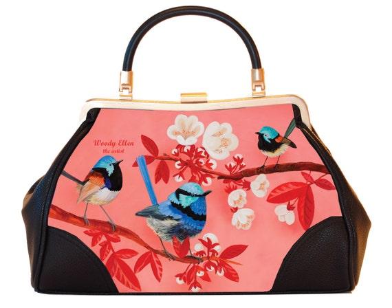 Retro handbag, Vintage handbag, Fairy,christmas,gifts,gifts for her,gifts for mom,Woody Ellen handbag,christmas gifts,christmas gift ideas