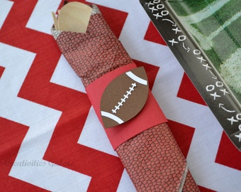 Football Napkin Rings (set of 12)