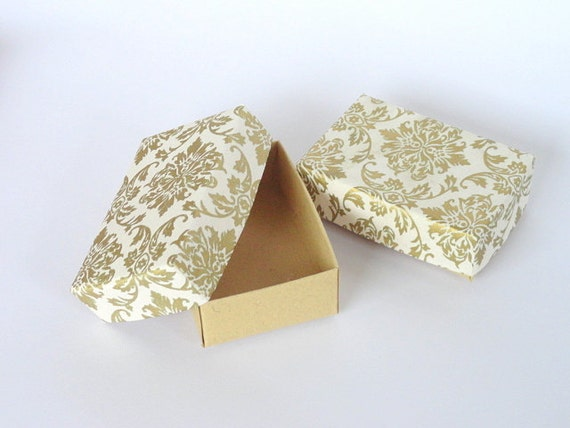 Damask Wedding Favor Boxes : Damask jewelry packaging boxes wedding favor by indianbazzaar