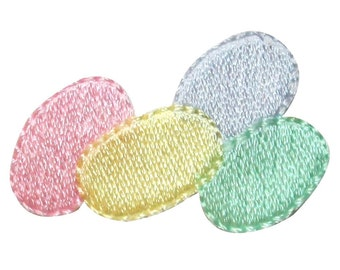 ID #3352 Pile of Colorful Easter Eggs Jelly Beans Candy Iron On Applique Patch