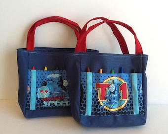 Thomas the Tank Engine Children's Crayon Bag and Customized Paper