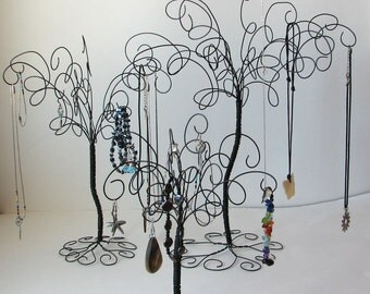 3  Wire Jewelry Tree Stands , Earring, Rings,Bracelets, Organizer, Display