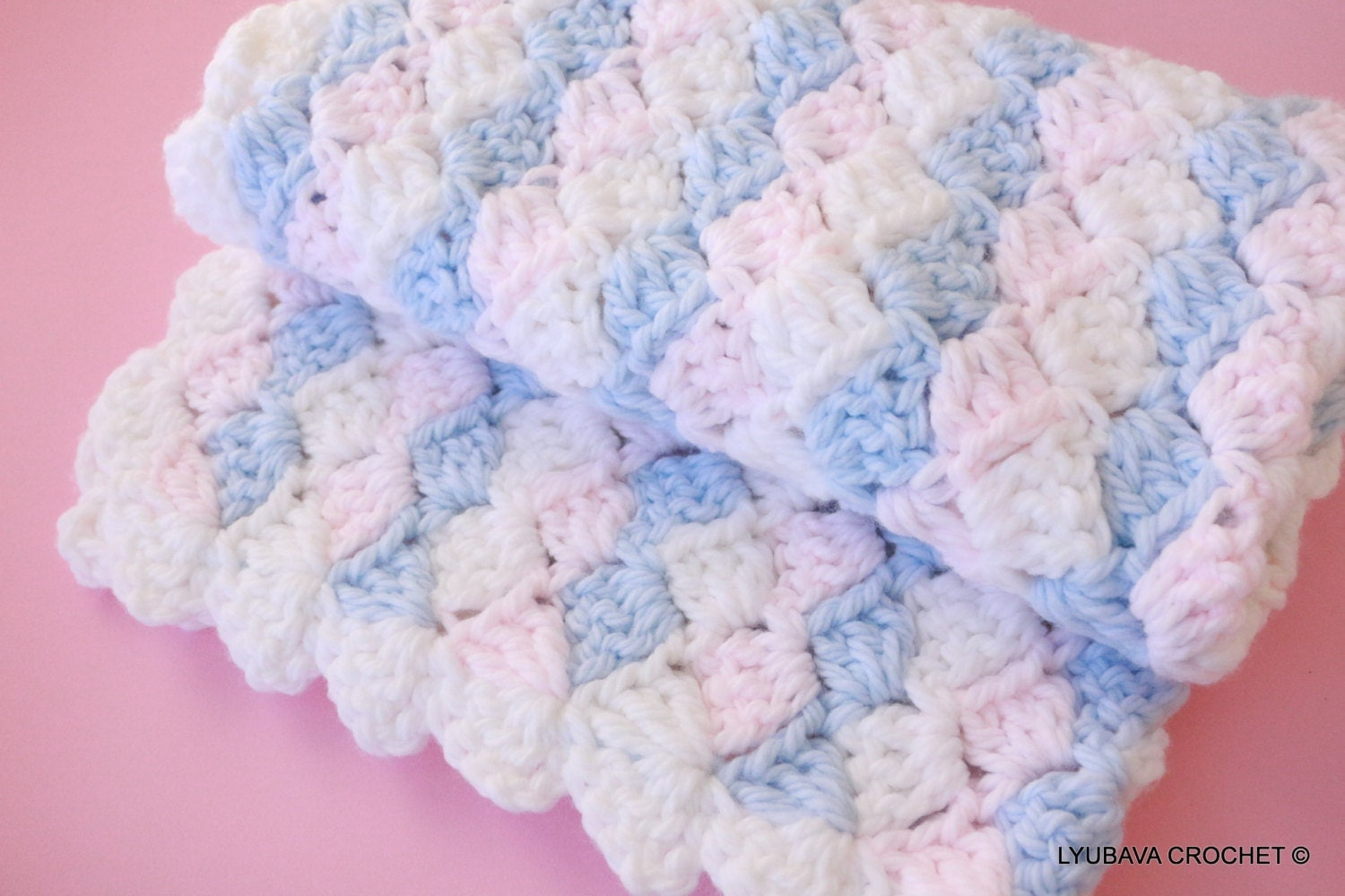 Free Crochet Baby Blanket Patterns Simple Baby Blankets : CROCHET PATTERN Baby Blanket Chunky Blanket by LyubavaCrochet