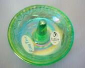 Green Fenton Ring Holder / Tree