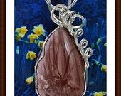 Women's Pendant Sterling Silver Pendants  Imperial Jasper Pendants
