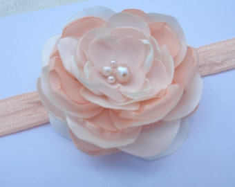 Bridal Fascinator, Satin Flower with Pearl Center - Hair Clip, Bridal Wedding, Special Occasion, Ship Ready