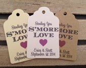 Wedding Gift Tags - Sending You S'more Love - Wedding Favor Tags - Customizable Personalized (WT1453)