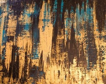 "Original Abstract Art Painting -""brooklyn Streets Are Paved With Gold"""