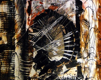 "Original Abstract Art Painting - ""Drunken Self Portrait"""